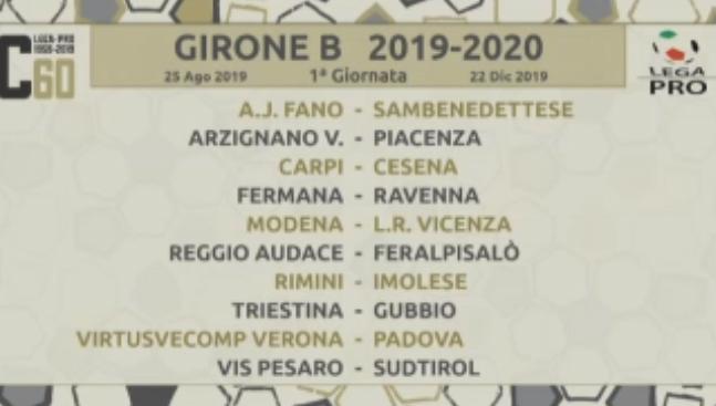 Calendario Serie B 2020 15.Calendari Della Serie C 2019 2020 Il L R Vicenza Fa Il Suo